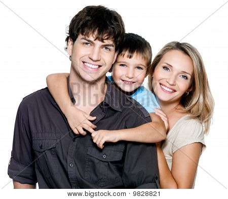 Happy Young Family mit hübschen Kind