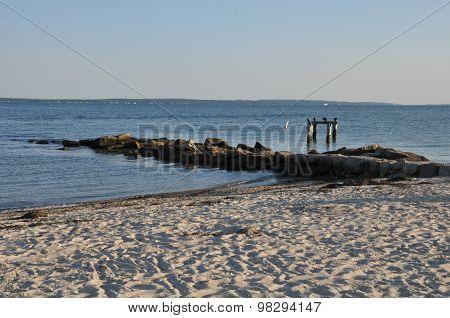 Falmouth Beach on Cape Cod