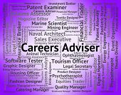 Careers Adviser Representing Position Employment And Counsellor poster