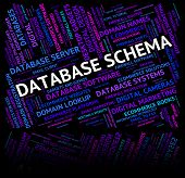 Database Schema Showing Word Schemes And Scheme poster