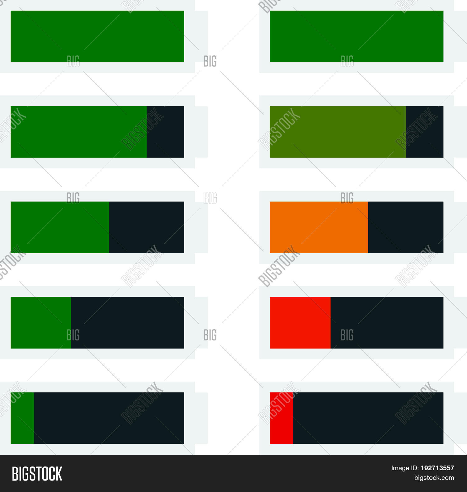 Battery Level Vector Photo Free Trial Bigstock Indicator Shape Template In Flat Style