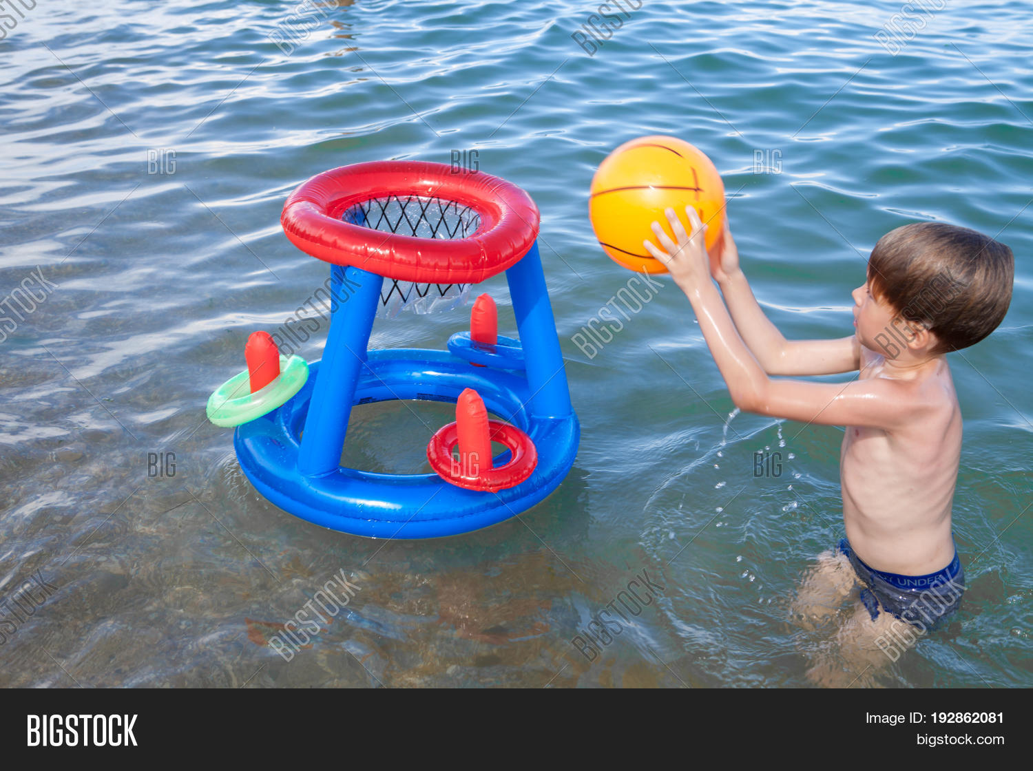 Boy On Beach Playing Image & Photo (Free Trial) | Bigstock
