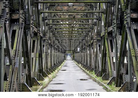The longest in europe rail-road bridge from 1851