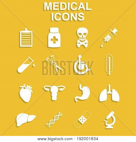 Healthcare and Medical Icon Set. Vector concept illustration for design.