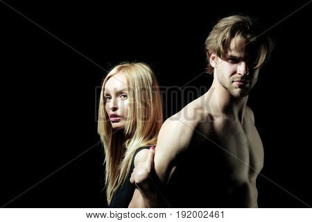 Sexy Naked Couple Of Muscular Boy And Girl