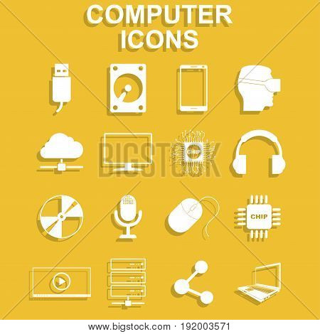 Computer icons. Vector concept illustration for design.