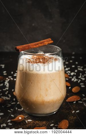 Traditional Mexican Drink Horchata Latte