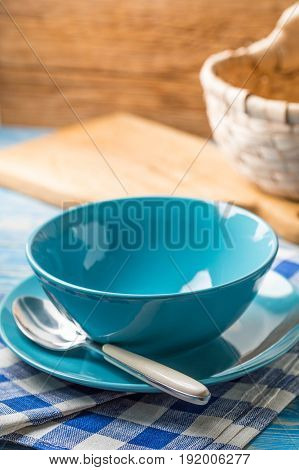 Bowls And Plate With Spoon.