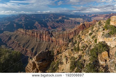Incredible view from the South Rim of Grand Canyon, Arizona, United States