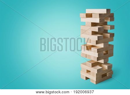 Game wooden tower close up board game leisure table