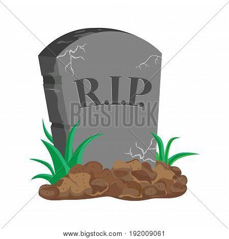 image tombstone RIP flat design original image