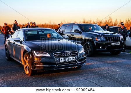 Audi S7 And Jeep Grand Cherokee Srt-8