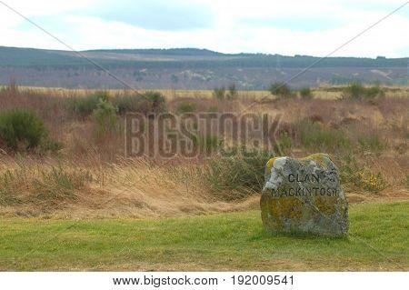 Clan MacKintosh Memorial, at Culloden Moor near Inverness