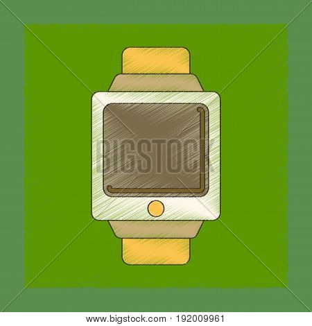 flat shading style icon of Digital Watch