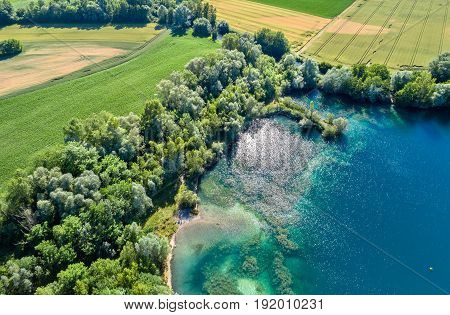 A lake near the Rhine in the south of Strasbourg - Alsace, France