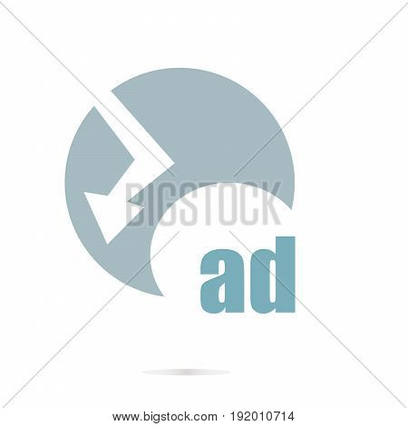 Text Ad. Management Concept . Graphic Design For Your Design. Unusual Flat Logo