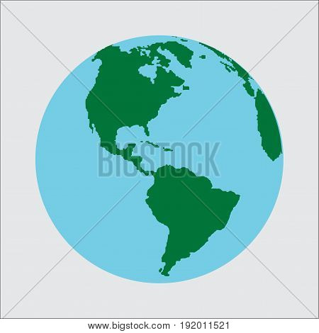 planet Earth icon. Flat design illustration for web banner web and mobile infographics. icon