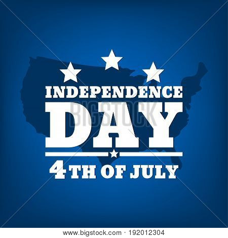 Fourth of July. United States independence day . July fourth typographic design. Vector illustration