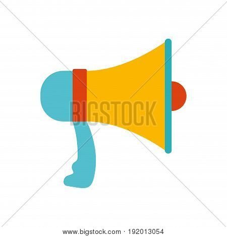 white background with colorful megaphone vector illustration