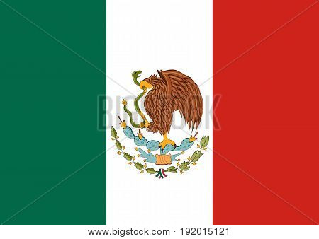 Flag of Mexico. Mexican national background. vector
