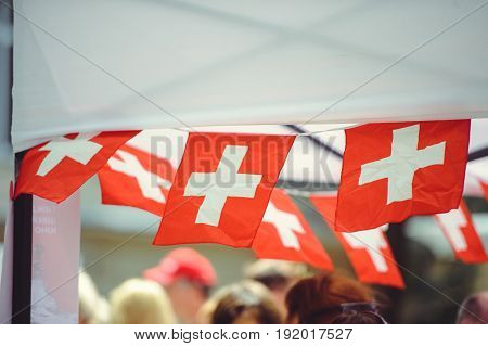 Small Swiss Flags