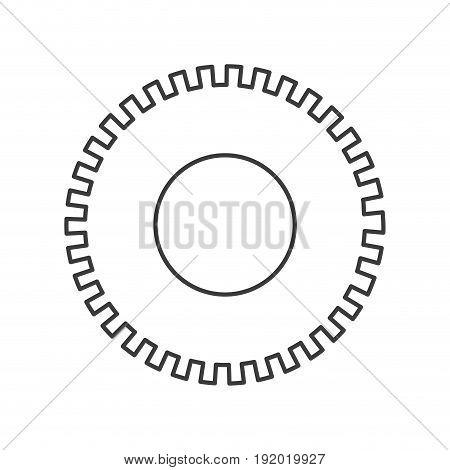 monochrome silhouette of pinion icon vector illustration