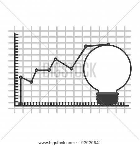 monochrome silhouette of light bulb and financial risk graphic vector illustration