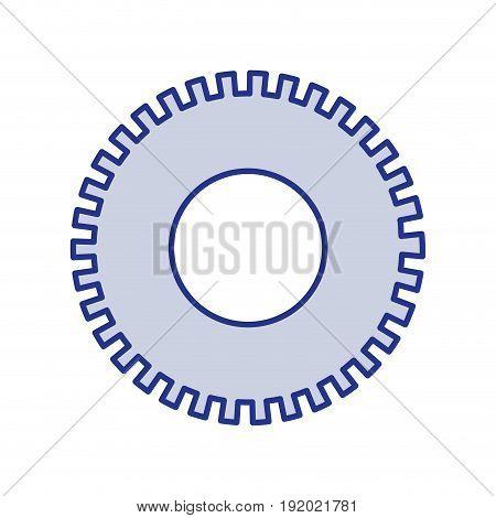 blue silhouette of pinion icon vector illustration