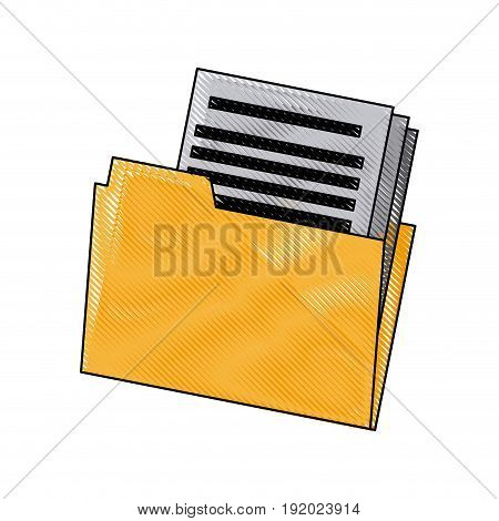 folder file document paper office archive vector illustration