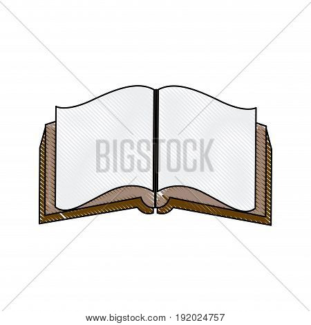 open book literature encyclopedia learn vector illustration