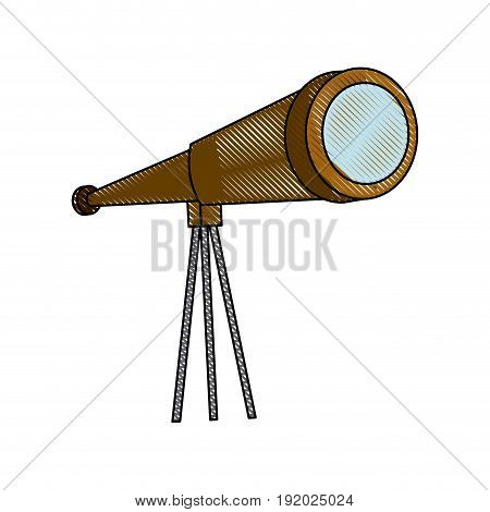 telescope icon observe instrument find business concept