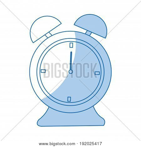 alarm clock time alert hour icon vector illustration