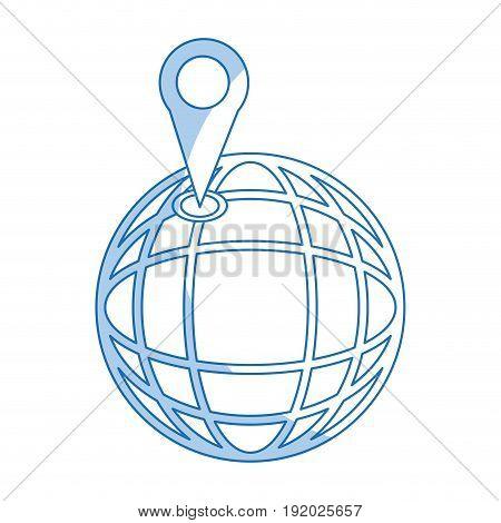location on globe pin map world image vector illustration