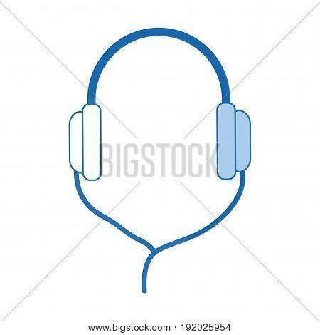 headphones technology volume music listen accessory vector illustration