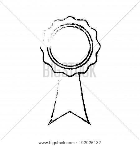 rosette certificate quality premium ribbon icon vector illustration