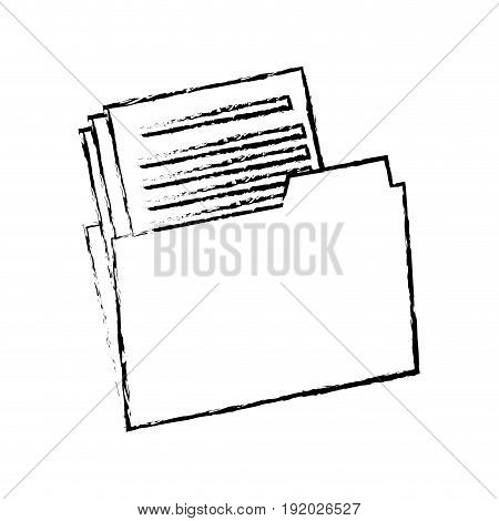folder with paper document files office business vector illustration