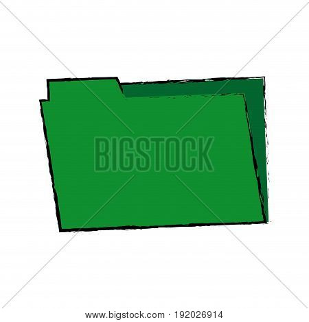 green folder archive office supply element blank icon vector illustration