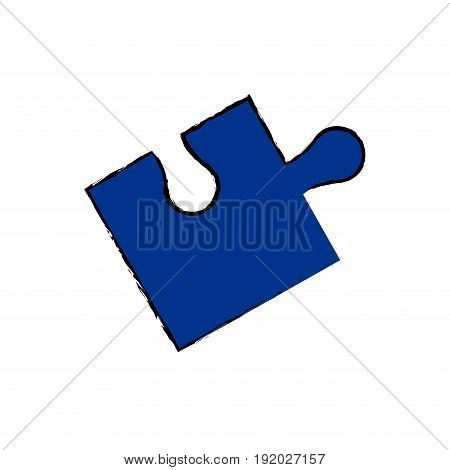 part of paper puzzles business concept layout vector illustration