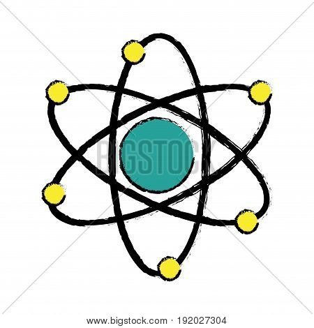 atom molecule biology science structure vector illustration