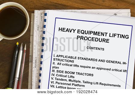 Heavy Equipment Lifting Procedure