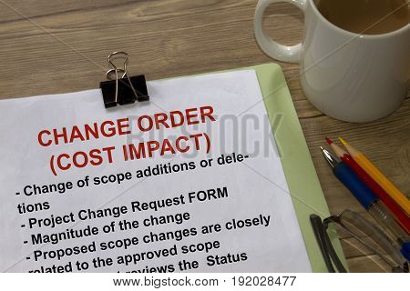 Change Order Cost Impact