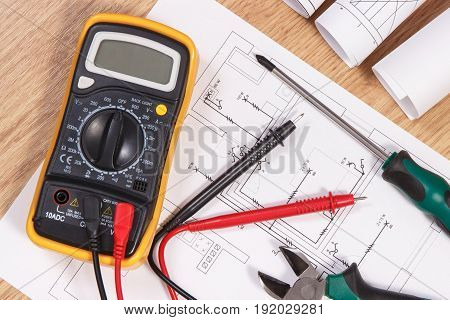 Electrical Drawings, Multimeter For Measurement In Electrical Installation And Accessories For Use I
