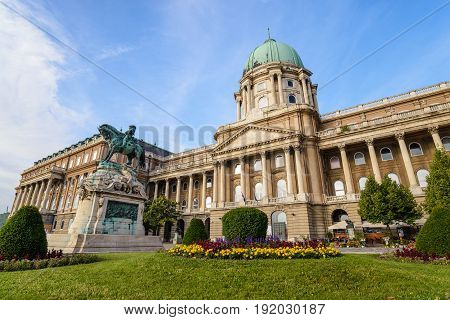 The famous Buda Castle of Budapest Hungary