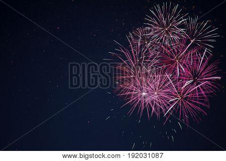 Amazing Maroon Red Pink Celebration Fireworks
