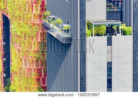 Outdoor garden on rooftop of condominium Singapore
