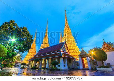 Wat Pho Temple or Wat Phra Chetuphon in Bangkok Thailand.