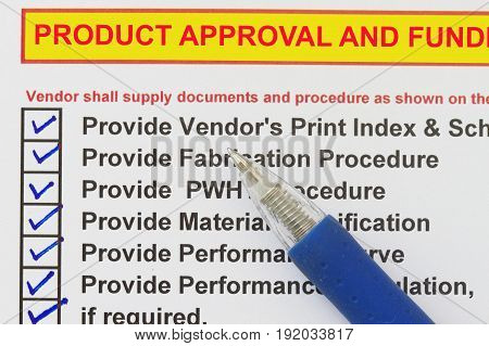 Product Approval