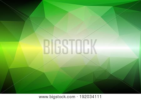 Light green shades abstract low poly geometric background