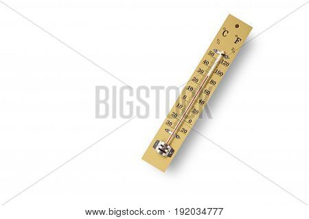 Wooden Thermometer Scale