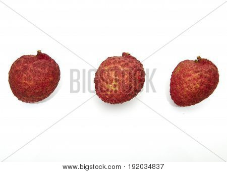 Set Of Fresh Lychees Fruit
